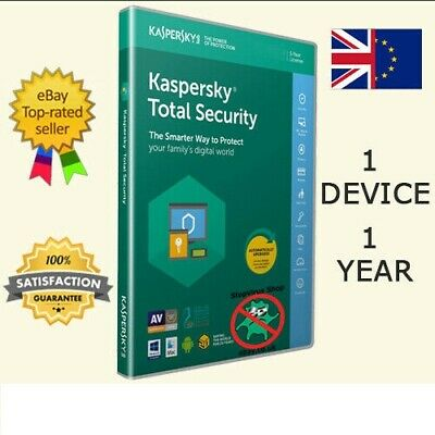 Kaspersky Total Security 2019 Antivirus 1 Device/1 Year/UK/EU Email Delivery