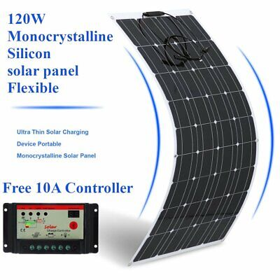 12V/24V 100W 1150x560mm Flexible Solar Panel With 1.5m Cable Caravan Boat Home