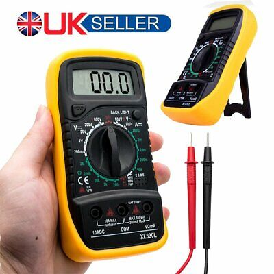 LCD Digital Multimeter Voltmeter Ammeter AC DC OHM Current Circuit Buzzer Tester