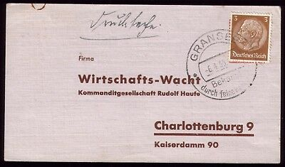 Germany 1935 - Third Reich Gransee Special Town Postmark Used on Postcard