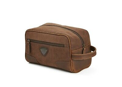 GENUINE Triumph Motorcycles Canvas Wash Travel Bag Brown NEW 2019