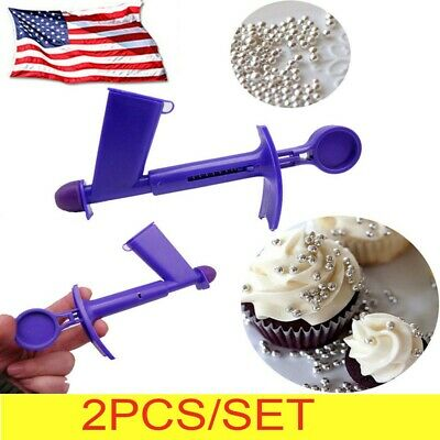 Plastic Pearl Applicator Fondant Cake Decor Baking Tool Ballsugar Craft Silicone