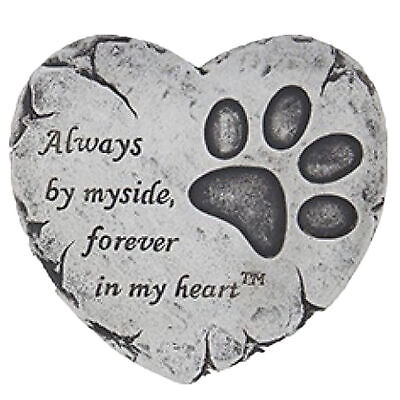 Heart Shaped Pet Memorial Plaque Memory Stone - Always by my side