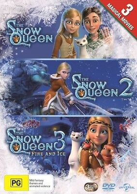 The SNOW QUEEN Trilogy : 1 2 3 : NEW DVD