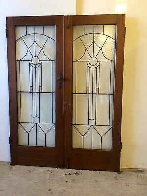 Leadlight Art Deco Door Set