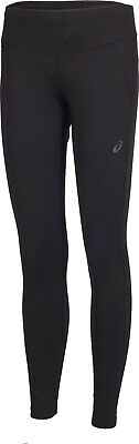 Asics Race Womens Long Compression Running Training Fitness Tights - Black