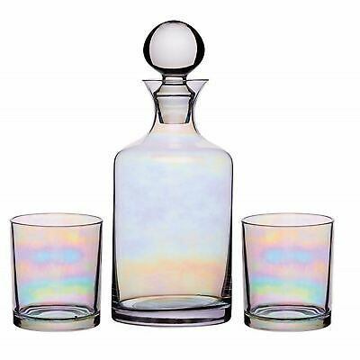Luxury Whisky Decanter Gift Set Glasses Lustre Whiskey Caraffe Bottle Boxed