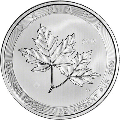 2019 Canada Silver Maple Leaf - 10 oz - $50 - BU