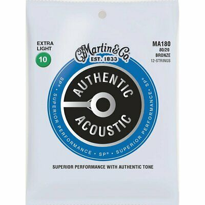 Martin MA180 Authentic Acoustic SP 80/20 12-String Acoustic strings 10-47