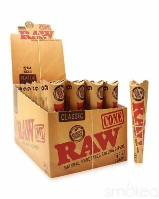 Raw Classic 1 1/4 Pre-Rolled Cones ( Single 6-Pack)