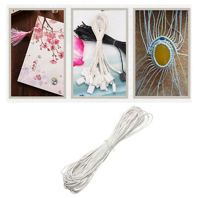 10m 1mm Waxed Cotton Cord Thread Imitation Leather Braided Strings for Craft