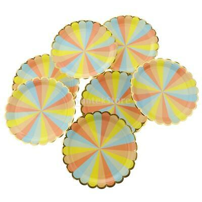 8pcs Party Tableware Disposable Birthday Supplies Event Decorations