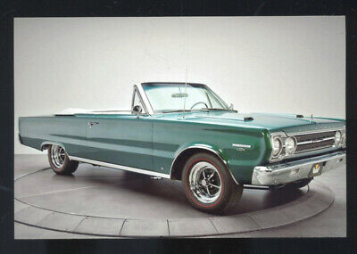 1967 Plymouth Gtx Convertible Car Dealer Advertising Postcard Copy 67 Mopar