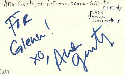 Amy Poehler Actress Comedian Snl Tv Show Autographed Signed Index Card Movies Entertainment Memorabilia