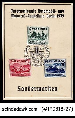 Germany 1939 Int'l Automobile & Motorcycle Exhibition Berlin Postcard Fdi