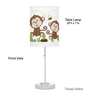 Baby Boy Nursery Lamp Monkey Safari Jungle Animals Table