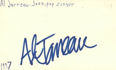 PEABO BRYSON SINGER Musician Pop Music Autographed Signed Index Card