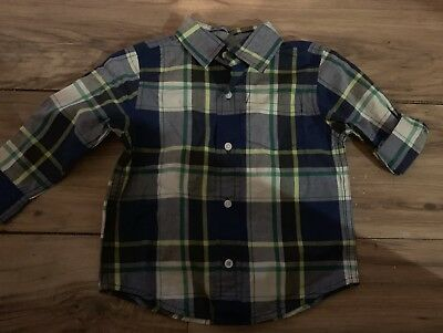 GYMBOREE ICE ALL-STAR GREEN PLAID LINED SHACKET TOP 6 18 24 2T 3T 4T NWT