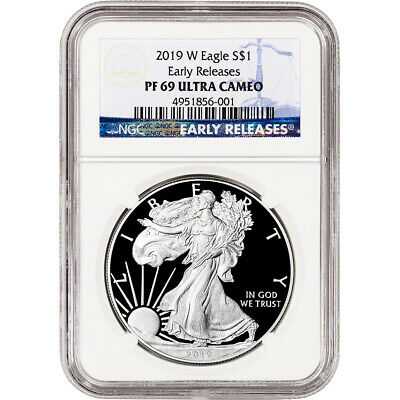 2019-W American Silver Eagle Proof - NGC PF69 UCAM Early Releases