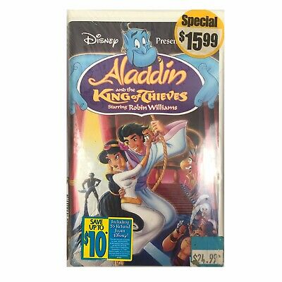 Aladdin and the King of Thieves (VHS, 1996) Vintage 90s VHS Tape Stock 4609A + B