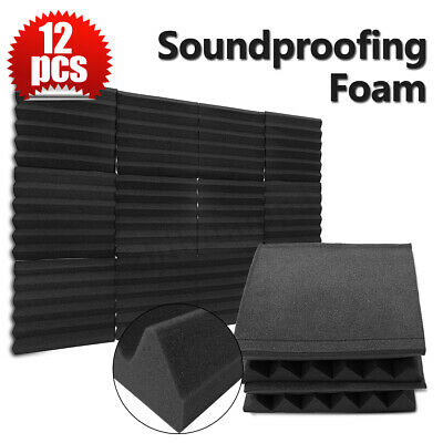 12Pack 12x12x2'' Acoustic Foam Soundproofing Panel Studio Wall Tile Sound Decor