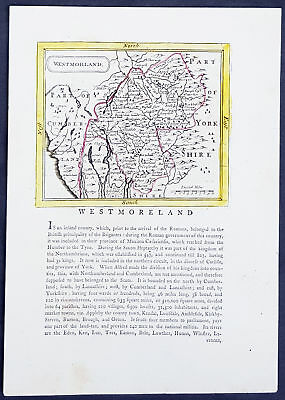 1777 John Seller & Francis Grose Antique Map The County of Westmorland, England