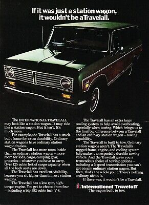 1973 International Travelall Station Wagon on Truck Frame photo vintage print ad