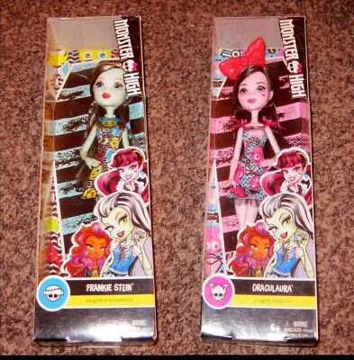 2 Monster High Dolls - New In Box - Frankie Stein and DracuLaura