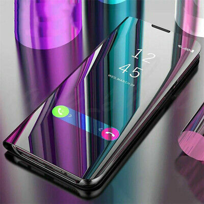 For Samsung Galaxy S10 Plus/S10 Smart View Mirror Flip Stand Case Cover  NEW