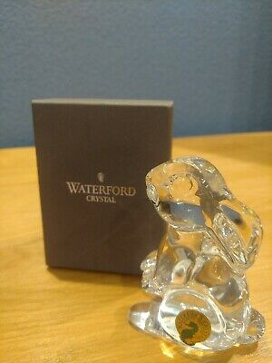 WATERFORD CRYSTAL Bunny Rabbit Easter Paperweight W/ Box 3rd edition