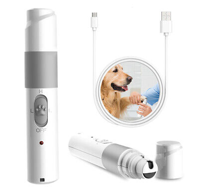 Pet Dog Cat Electric Nail Claw Grooming Grinder Trimmer Clipper File Scissor Kit
