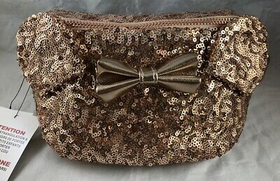 2014feaa981 Disney Parks Minnie Mouse Ears Bow Rose Gold Loungefly Fanny Pack Waist Bag  NEW