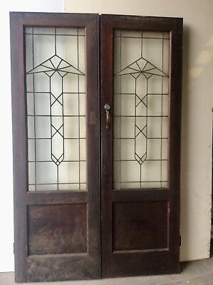 Leadlight Double  Door Set