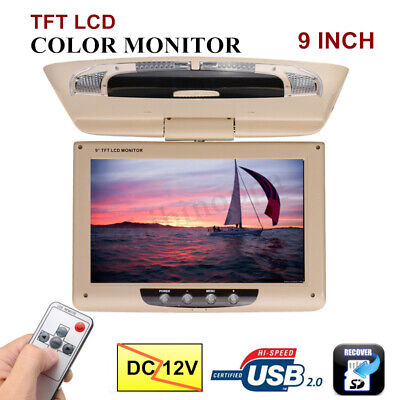 7F18 Car Display 9 Inch Ceiling Roof Mount Display TFT-LCD DC 12V Car Monitor