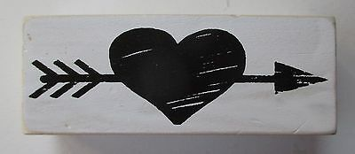 P Heart With Arrow Word Blocks Wood Home Decor Distressed 4