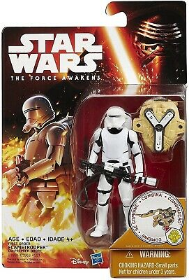 "Hasbro Star Wars The Force Awakens FIRST ORDER FLAMETROOPER 3.75"" figure NEW"