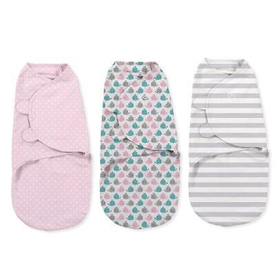 Summer Infant SwaddleMe Original Swaddle - Small/Med - 3 Pack - Pink Whales