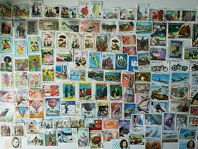 600 Different Laos Stamp Collection