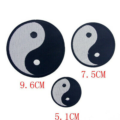 Yin Yang ying tao hippie retro boho weed embroidered applique iron-on patch