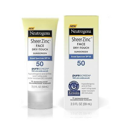Neutrogena Sheer Zinc Face Dry-Touch Sunscreen Broad Spectrum SPF 50 2 FL. Oz.