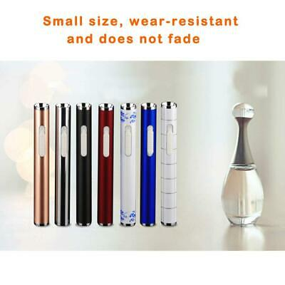 Mini Cylindrical Lighter Metal Cigarette Rechargeable USB Rechargeable Lighter