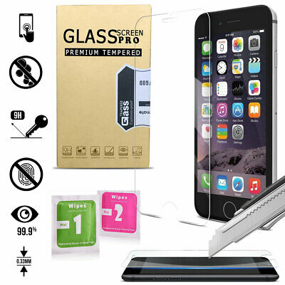 Premium Real Screen Protector Tempered Glass Guard For Apple iPhone 6s 7 8 Plus