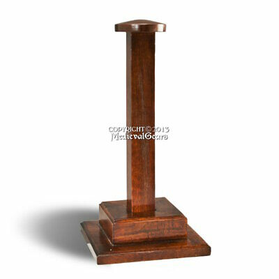 Solid and Sturdy Wooden Display Stand for Medieval Roman Viking Helmelt LARP SCA
