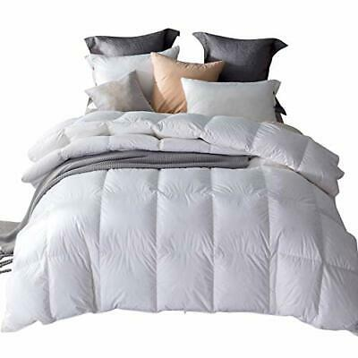 Umi. Essentials White Goose Feather and Down Duvet with 100% Cotton(200*200cm)