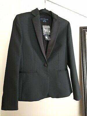 0d805d94b128 French Connection NWT $348 Tallulah Tuxedo LS Classic Jacket - Size 2