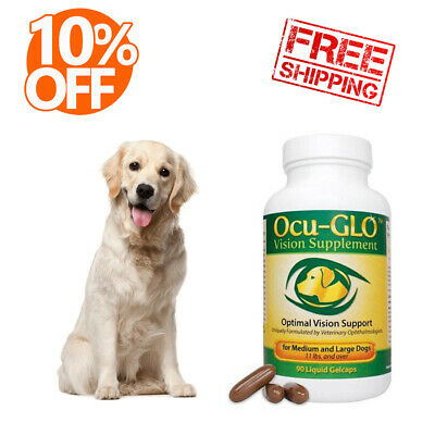 Ocu Glo Canine Vision Nutritional Supplement for Small/Med/Large Dogs (90 Caps)