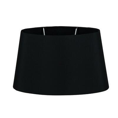 Black Tappered  Oval Lampshade Fabric Table Light Shade 3 Sizes