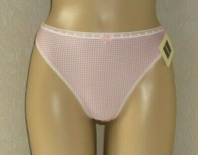 *CLEARANCE* CHANGE of Scandinavia ROSA THONG Size M or L ~BNWT~ DUSKY PINK/WHITE