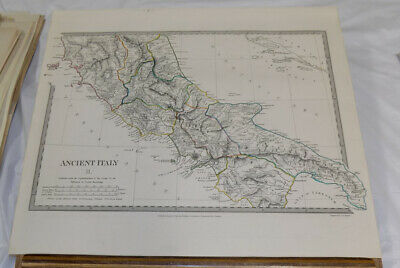 1830 Antique COLOR SDUK Map///ANCIENT ITALY, PART 2