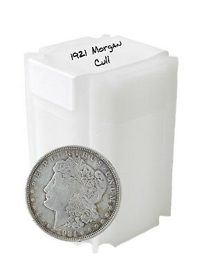 1921 Silver Morgan Dollar Cull Lot of 20 Solid Date Roll of S$1 Coins